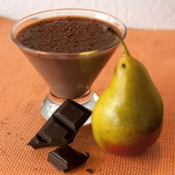 Sobremesa pêra Bela Elena rica em proteínas Mincidelice
