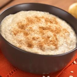 Mingau rico em proteínas canela uva - Porridge Cannelle Raisin