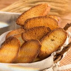 Pão rico em proteínas grilhado a francesa