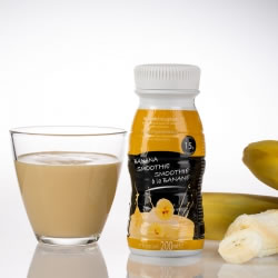 Garrafa smoothie rica em proteínas 200ml UHT banana
