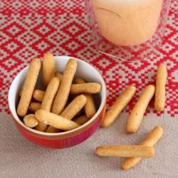 Palitos de pão ricos em proteínas sementes de sesamo