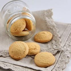 Mini biscoitos ricos em proteínas avelã