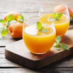 Bebida rica em proteínas de damasco
