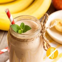 SEM GLÚTEN Batido rico em proteínas sabor Banana