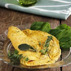 Omelete rica em proteínas com ervas de provincia SG