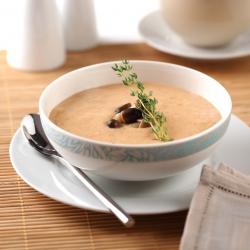 Sopa rica em proteínas cogumelos SG