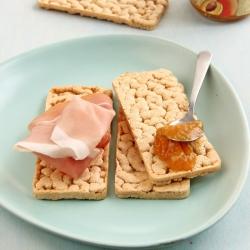 Tostas ricas em proteínas vegan sem glúten - Toasts croustillants