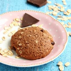 Cookie Rico em proteínas Chocolate com Pedaços de Avelãs