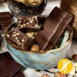 SEM GLÚTEN Barrita proteinada crocante chocolate avelã - Chocolate Hazelnut