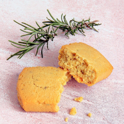 Bolo salgado hiperproteico sabor Queijo de Cabra e Alecrim 40g - Cake salé Chèvre Romarin