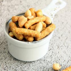 Snack hiperproteico salgadinhos de amendoim